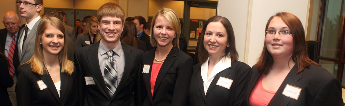 UNI Business students at the Iowa Capitol